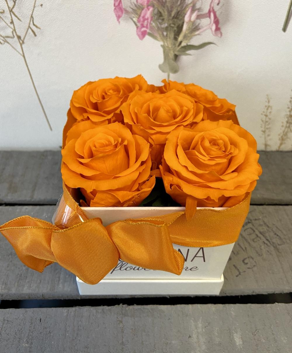 arancioflower box rose stabilizzate florashopping Rossana flower store NovellinoIMG_0372