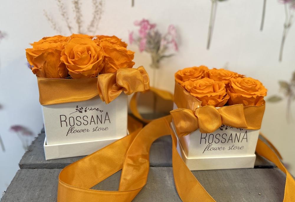 arancioflower box rose stabilizzate florashopping Rossana flower store NovellinoIMG_0381
