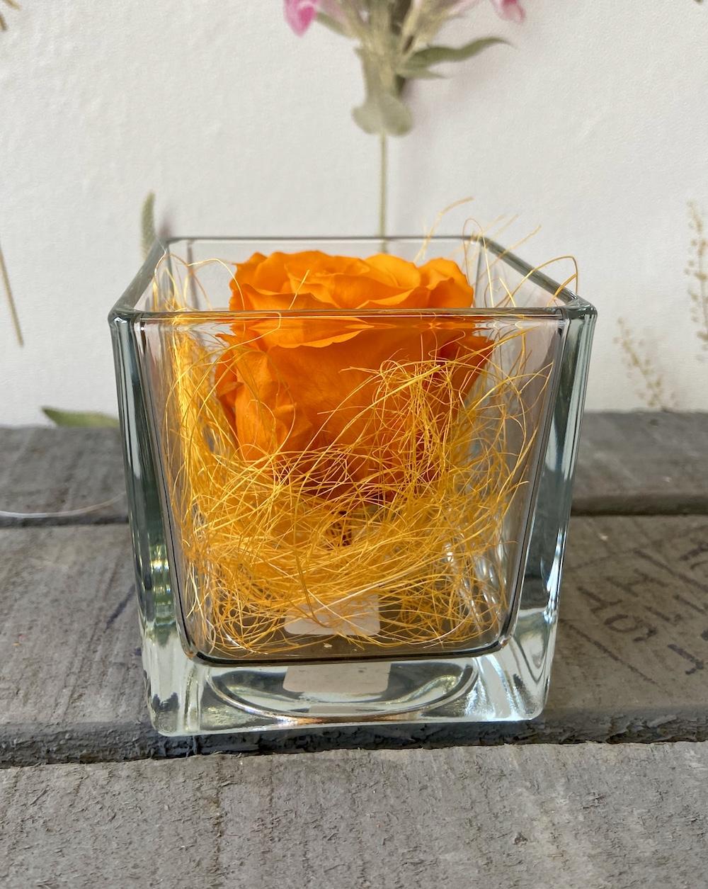 arancioflower box rose stabilizzate florashopping Rossana flower store NovellinoIMG_0466