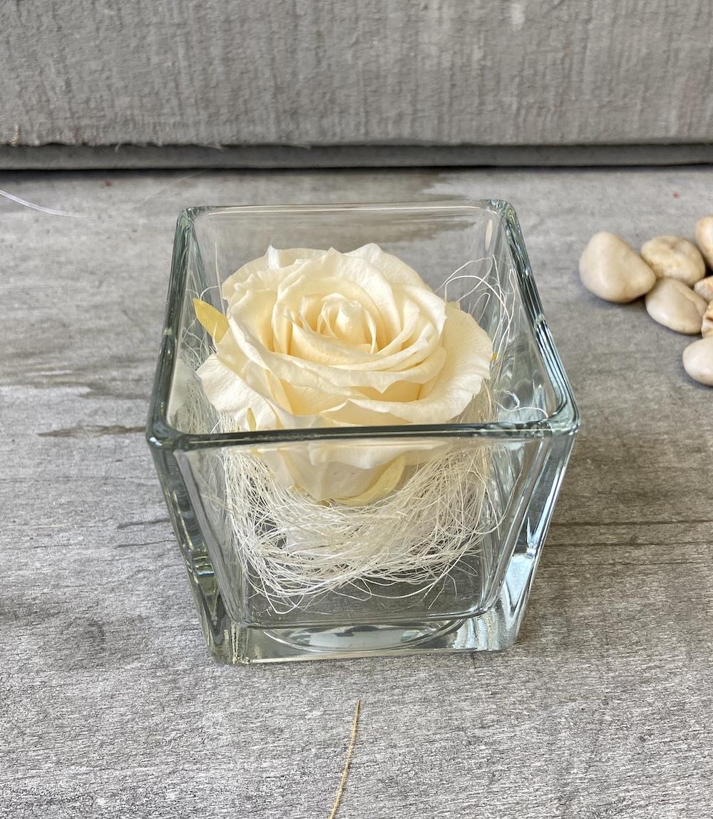 avorio flower box rose stabilizzate florashopping Rossana flower store NovellinoIMG_0737