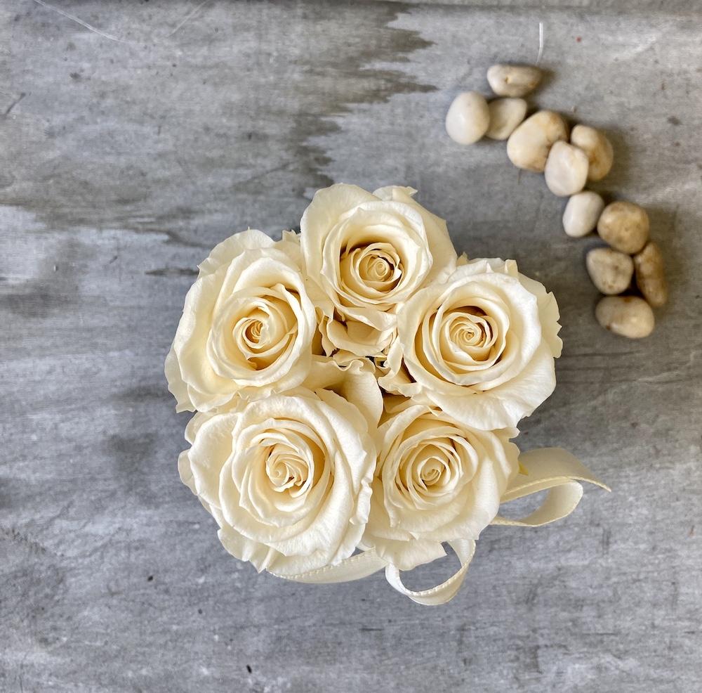 avorio flower box rose stabilizzate florashopping Rossana flower store NovellinoIMG_0741