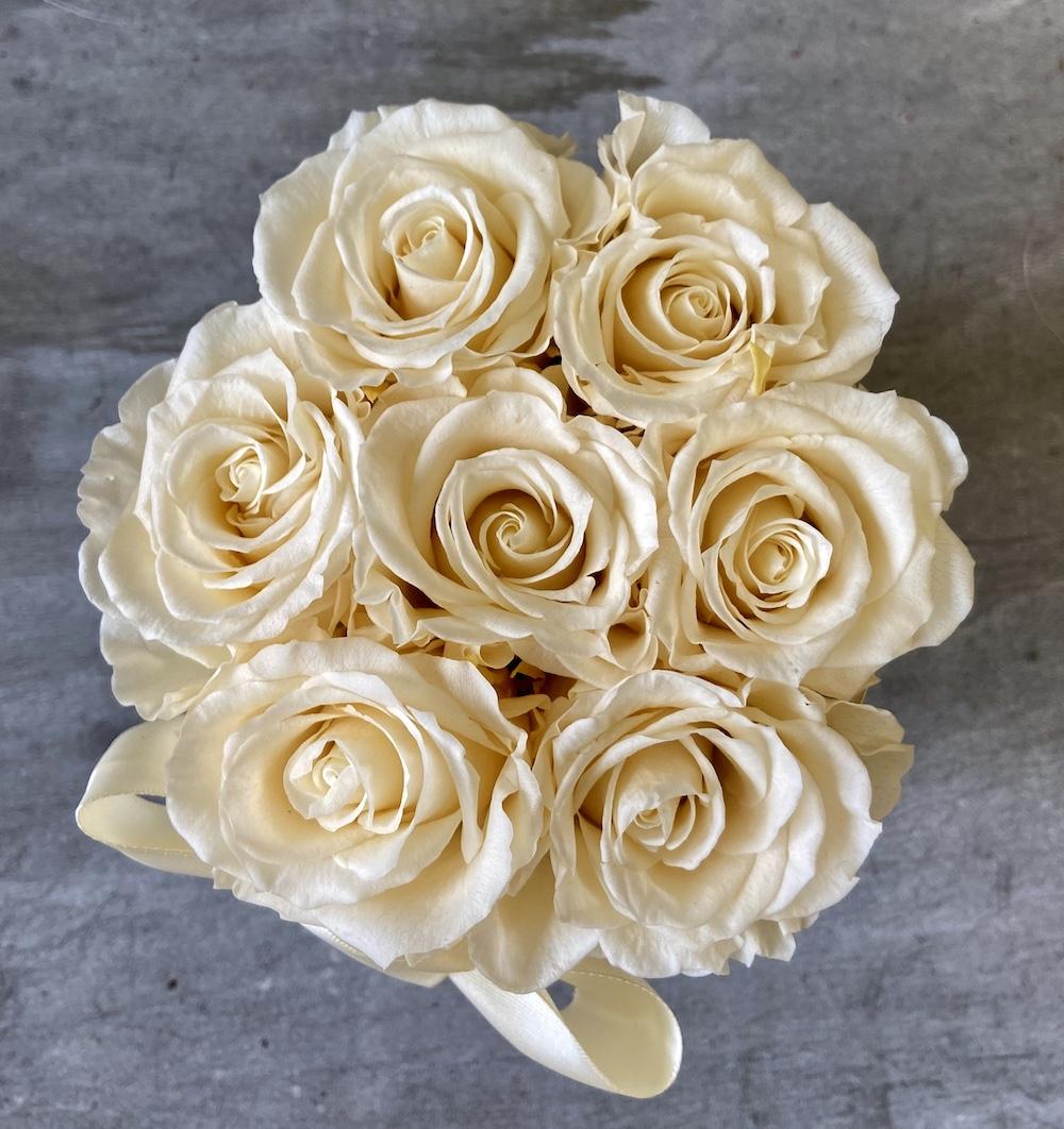avorio flower box rose stabilizzate florashopping Rossana flower store NovellinoIMG_0750