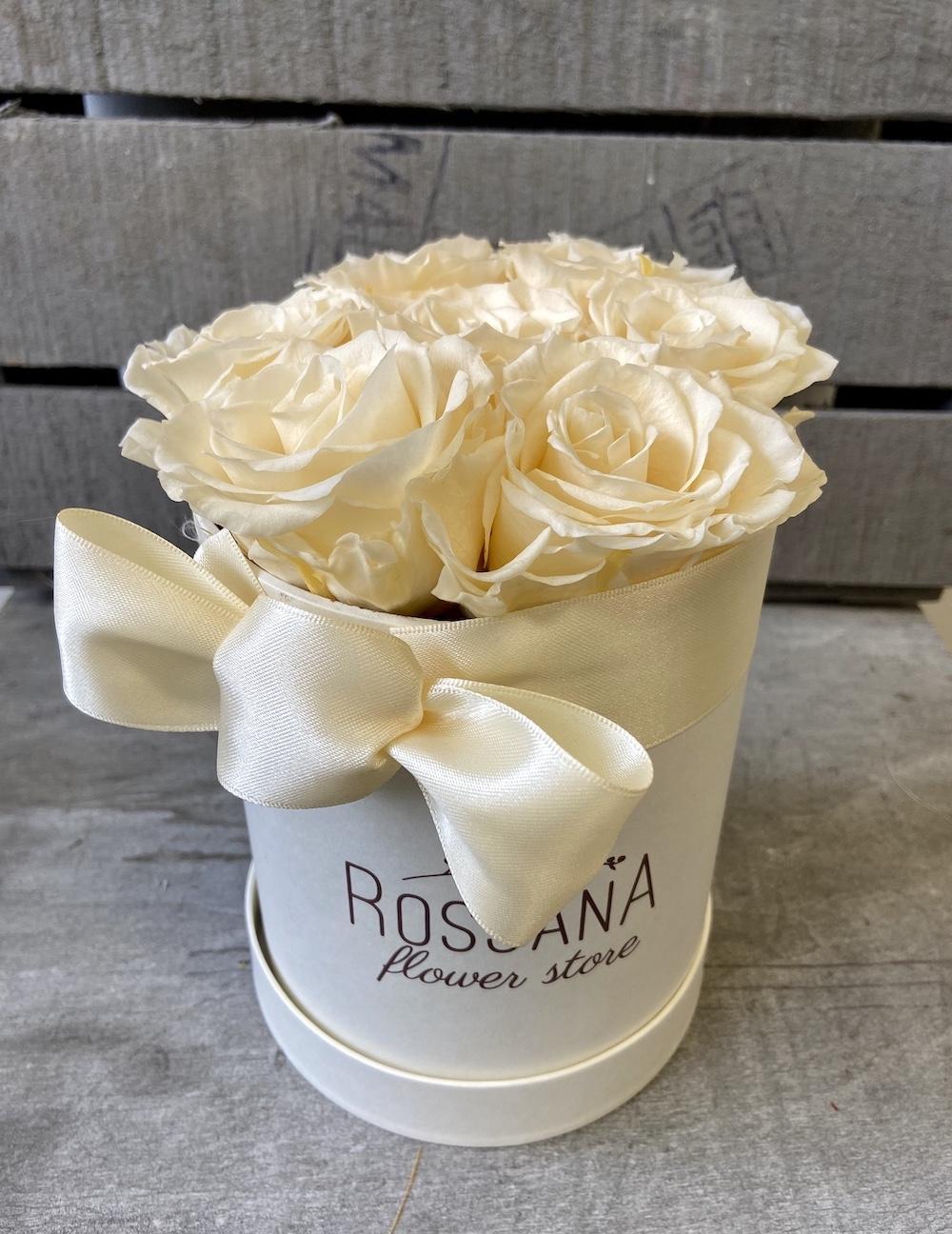 avorio flower box rose stabilizzate florashopping Rossana flower store NovellinoIMG_0754