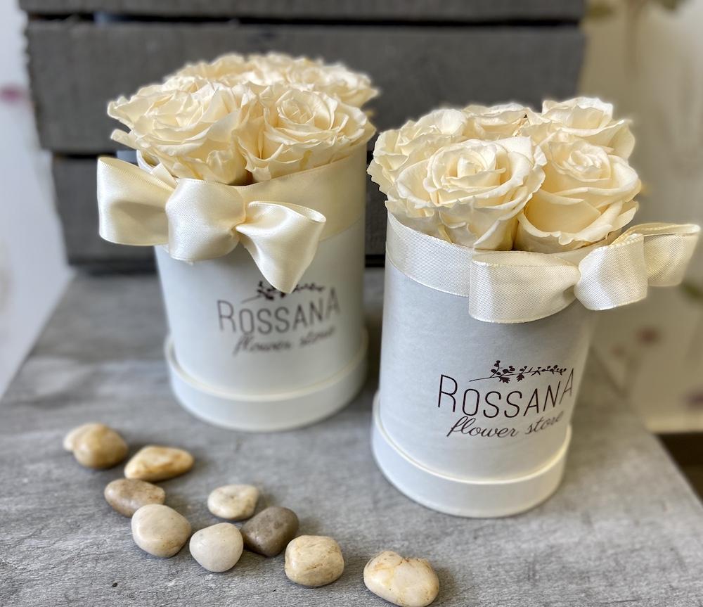 avorio flower box rose stabilizzate florashopping Rossana flower store NovellinoIMG_0757