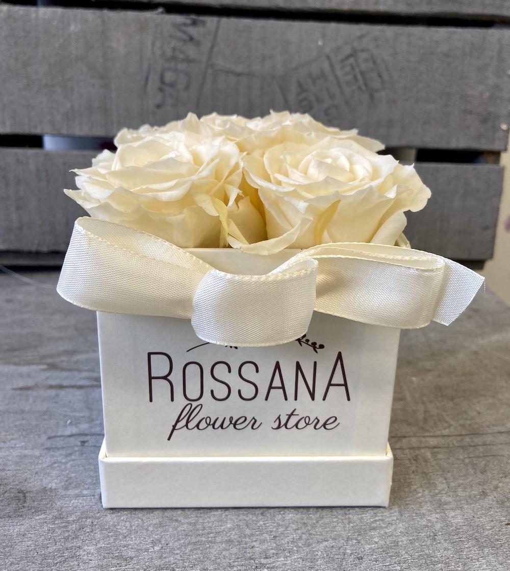avorio flower box rose stabilizzate florashopping Rossana flower store NovellinoIMG_0769