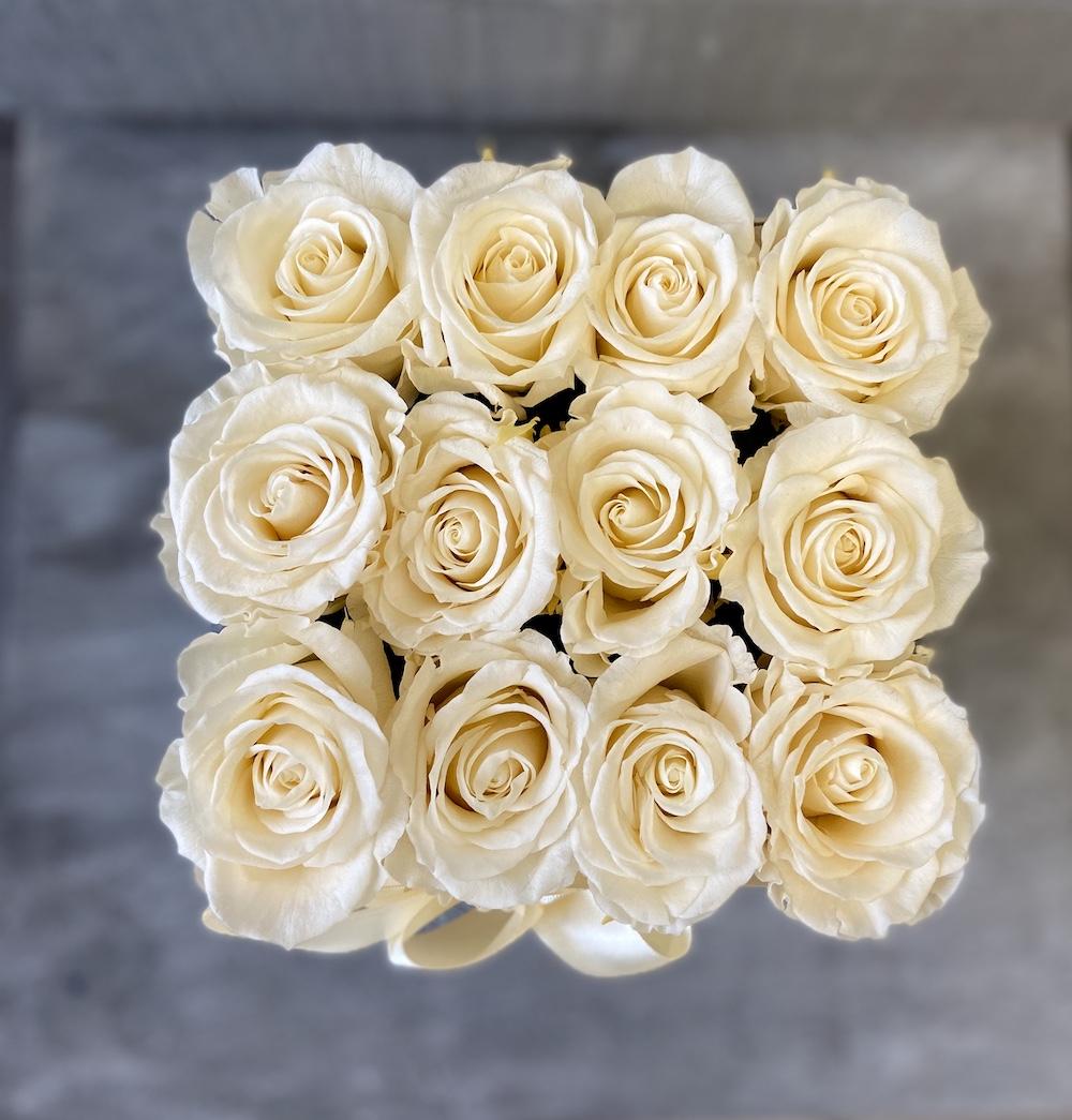 avorio flower box rose stabilizzate florashopping Rossana flower store NovellinoIMG_0777