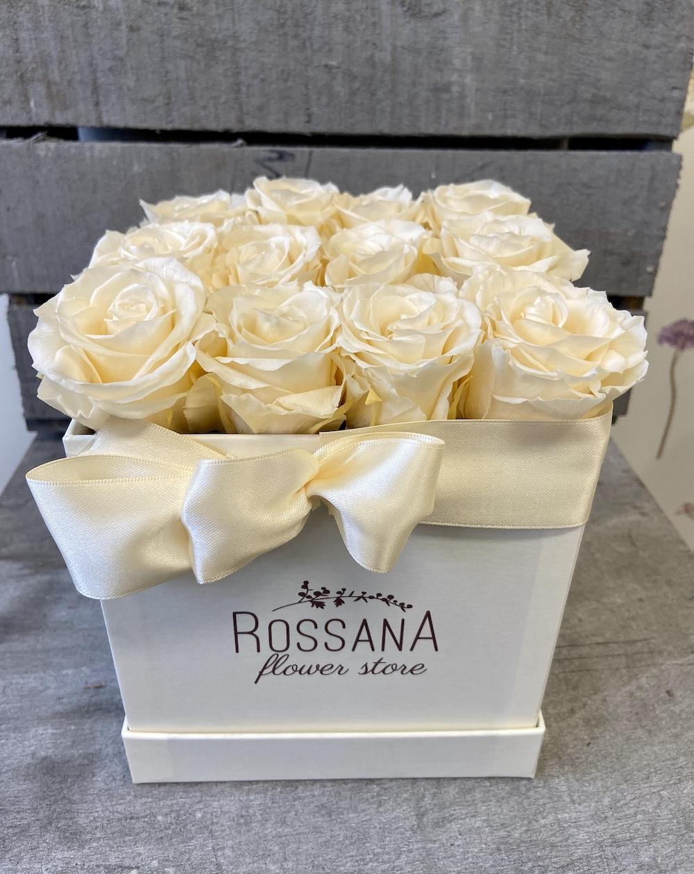 avorio flower box rose stabilizzate florashopping Rossana flower store NovellinoIMG_0781