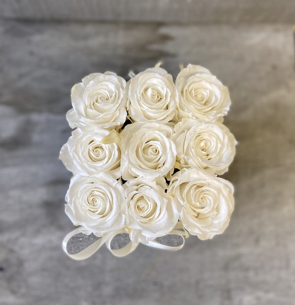 flower box rose stabilizzate bianche florashopping Rossana flower store NovellinoIMG_0784
