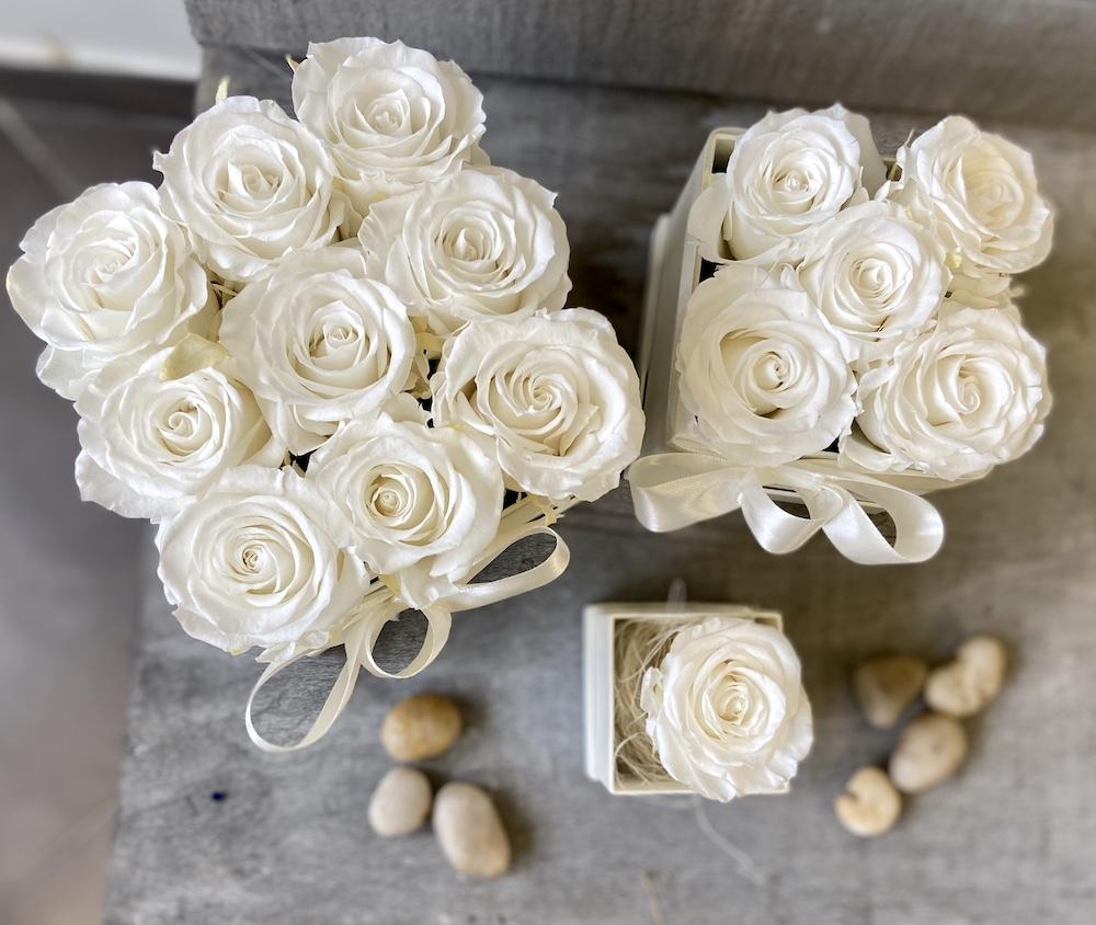 flower box rose stabilizzate bianche florashopping Rossana flower store NovellinoIMG_0795