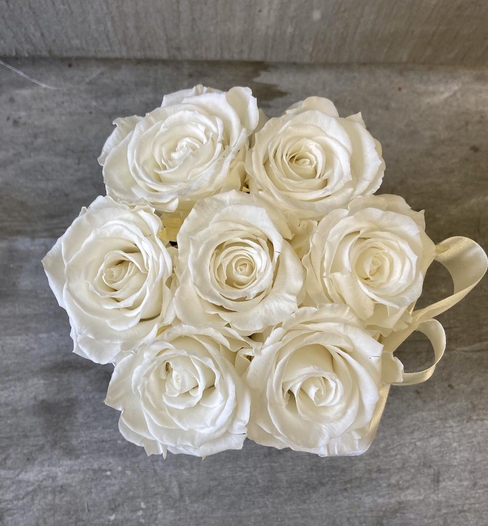 flower box rose stabilizzate bianche florashopping Rossana flower store NovellinoIMG_0876
