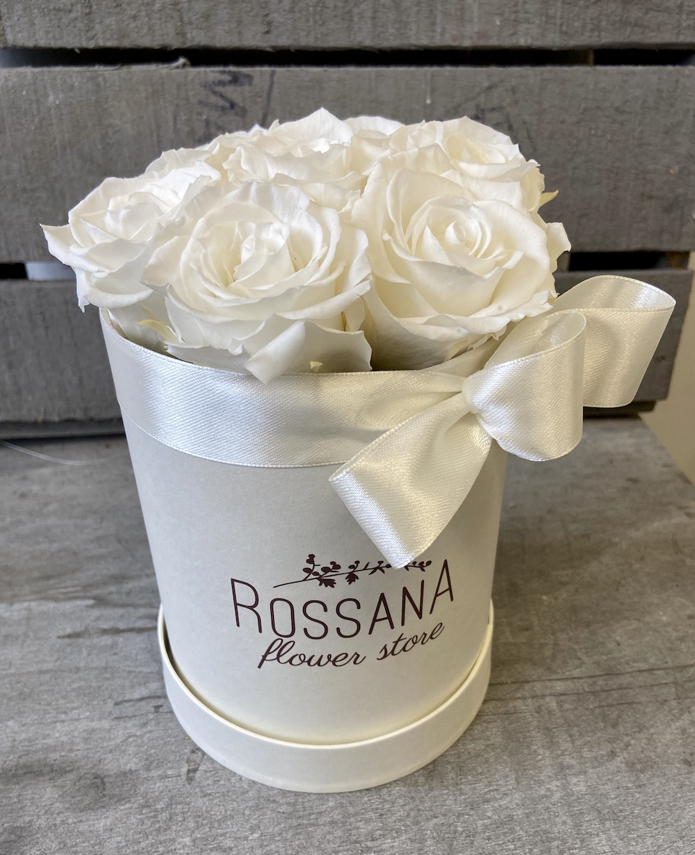 flower box rose stabilizzate bianche florashopping Rossana flower store NovellinoIMG_0880