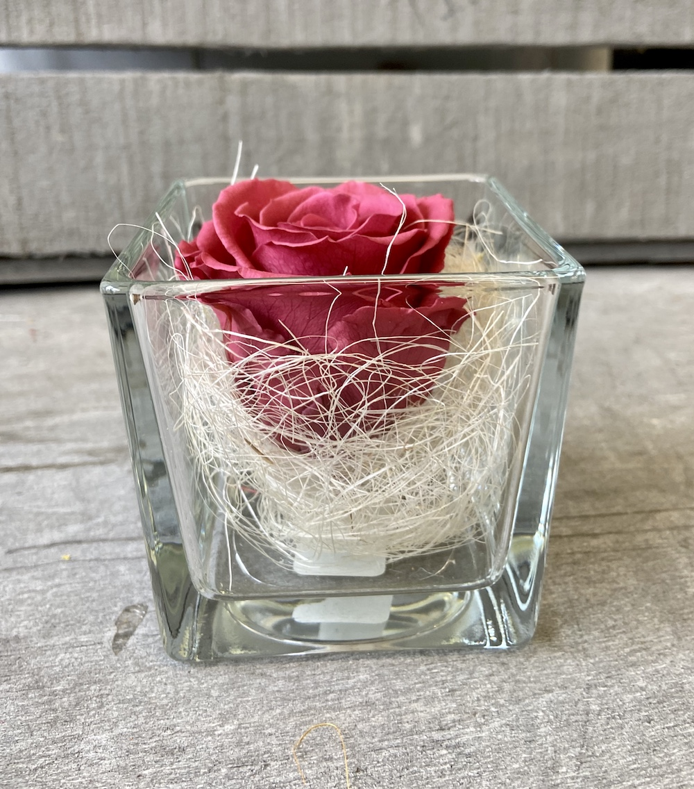 flower box rose stabilizzate cranberry florashopping Rossana flower store NovellinoIMG_0675