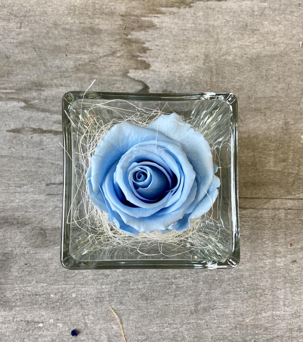 flower box rose stabilizzate florashopping Rossana flower store NovellinoIMG_0854 azzurro