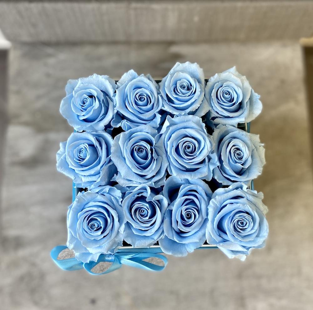 flower box rose stabilizzate florashopping Rossana flower store NovellinoIMG_0862 azzurro