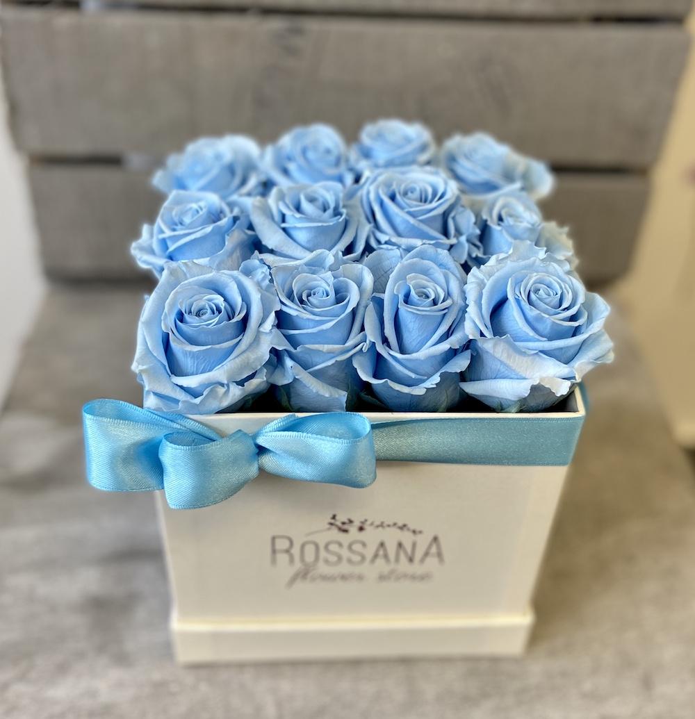 flower box rose stabilizzate florashopping Rossana flower store NovellinoIMG_0864 azzurro