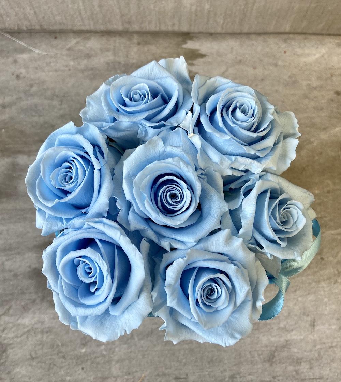 flower box rose stabilizzate florashopping Rossana flower store NovellinoIMG_0883 azzurro