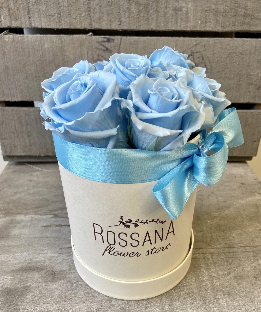flower box rose stabilizzate florashopping Rossana flower store NovellinoIMG_0885 azzurro