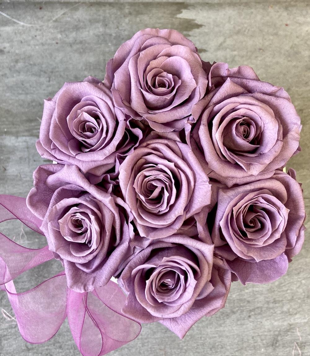 flower box rose stabilizzate lilla florashopping Rossana flower store NovellinoIMG_0950