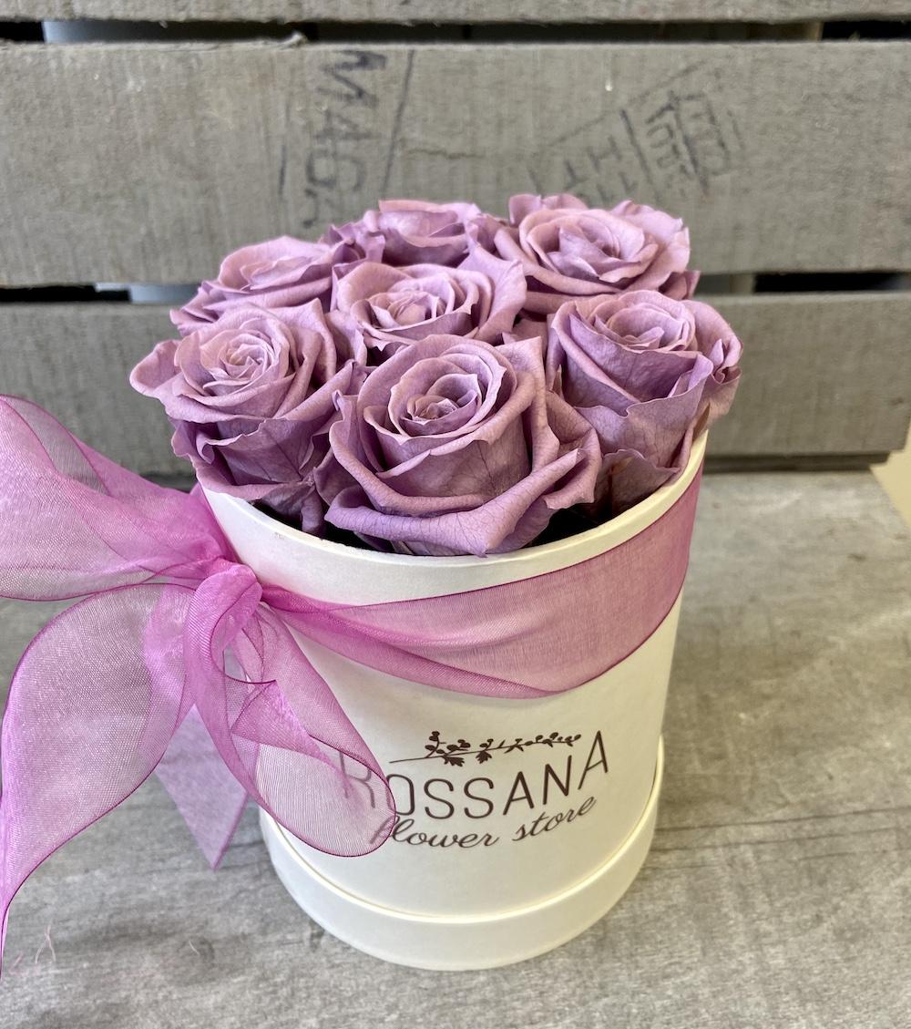 flower box rose stabilizzate lilla florashopping Rossana flower store NovellinoIMG_0954