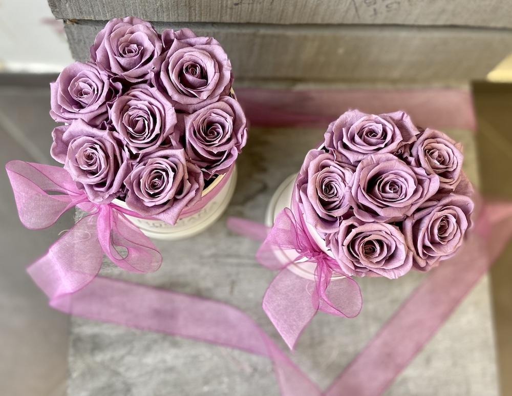flower box rose stabilizzate lilla florashopping Rossana flower store NovellinoIMG_0962