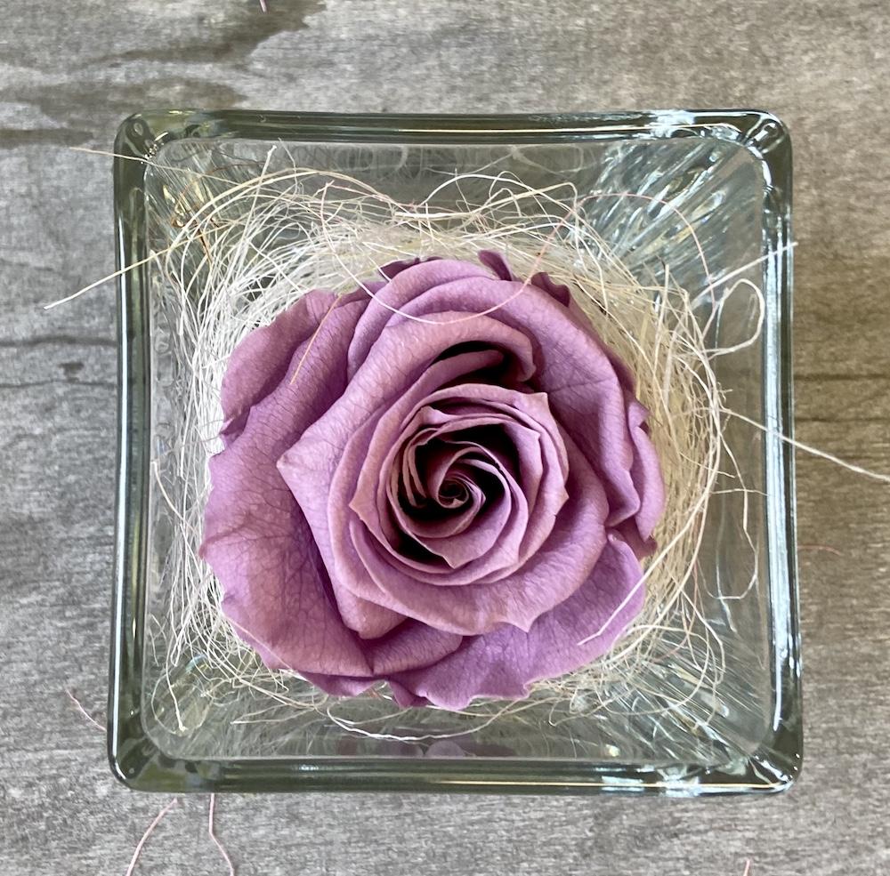 flower box rose stabilizzate lilla florashopping Rossana flower store NovellinoIMG_0965