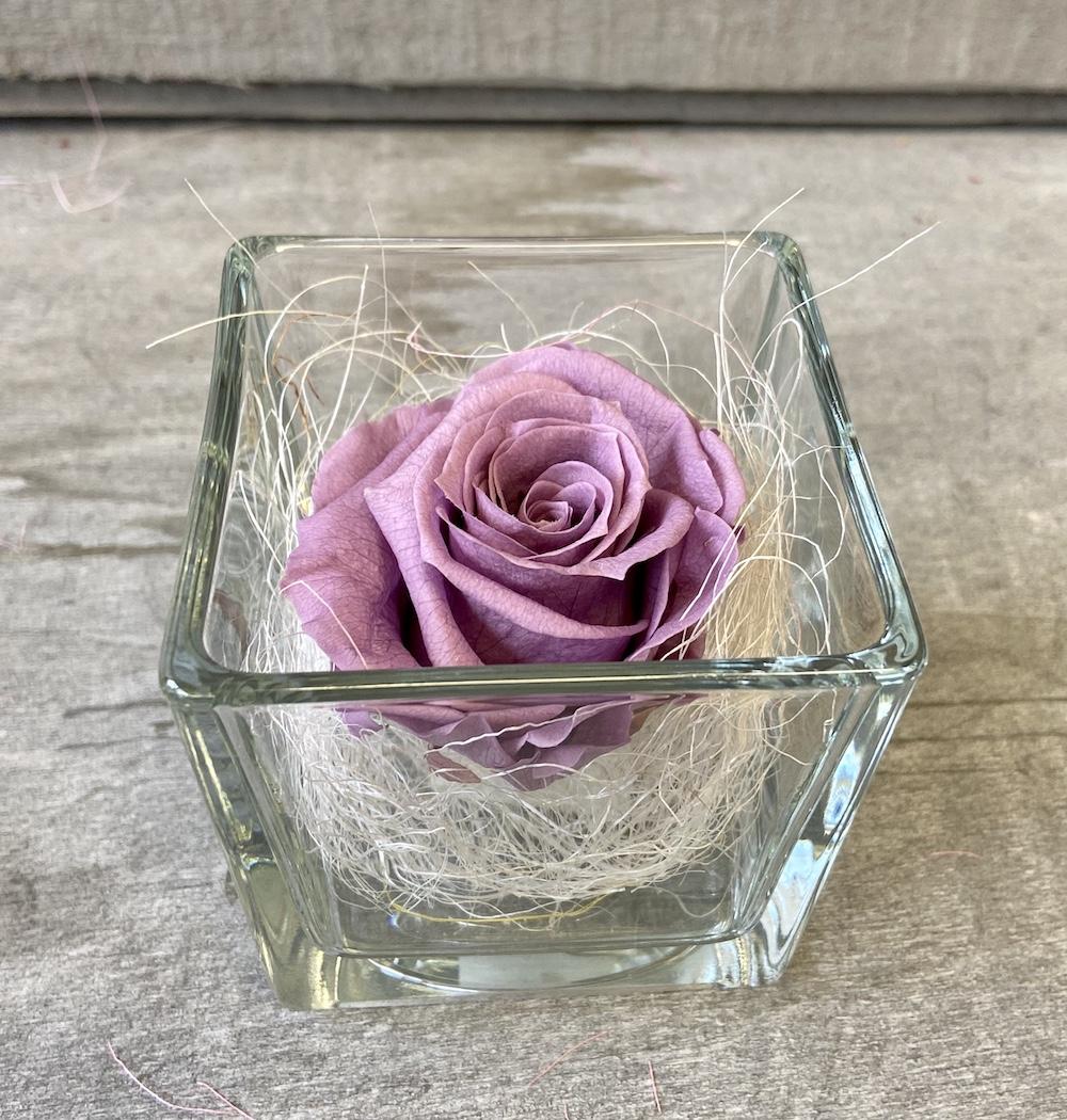 flower box rose stabilizzate lilla florashopping Rossana flower store NovellinoIMG_0967