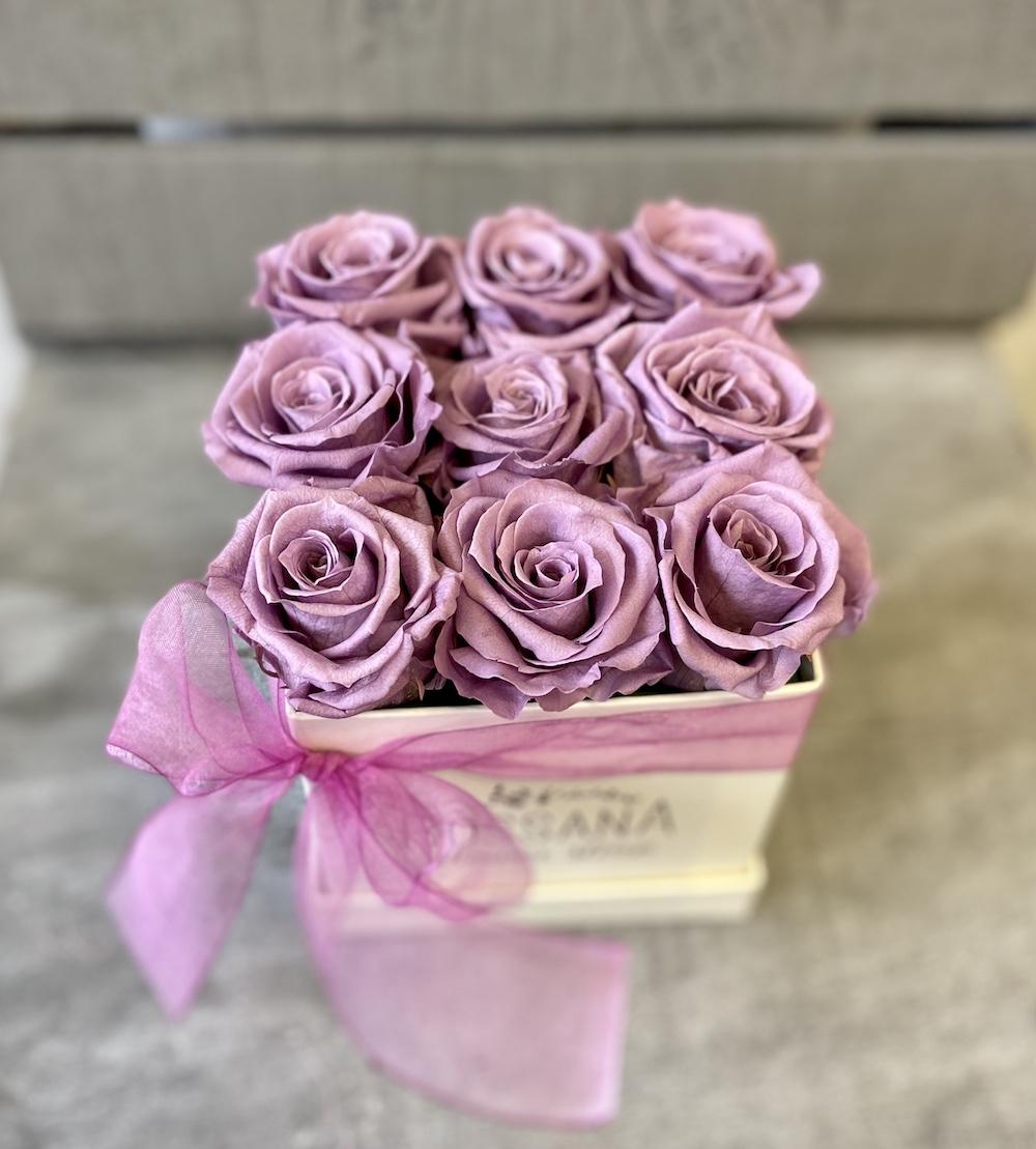 flower box rose stabilizzate lilla florashopping Rossana flower store NovellinoIMG_0986