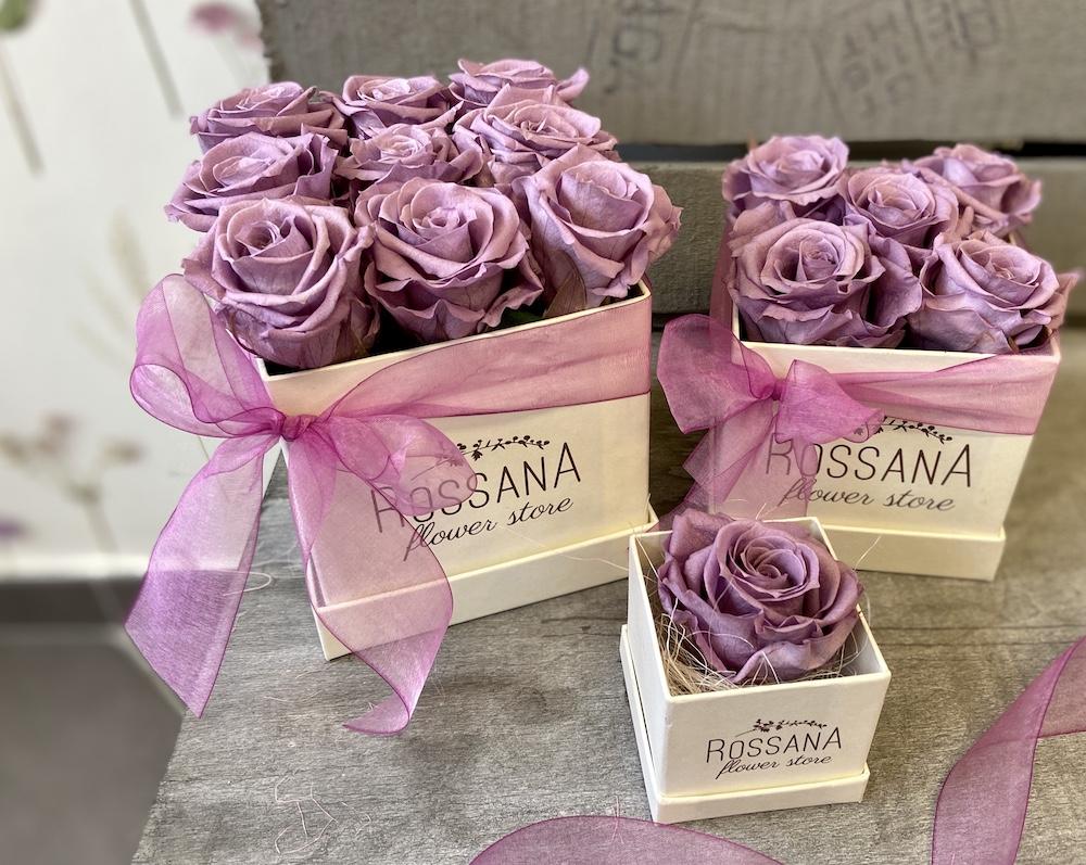 flower box rose stabilizzate lilla florashopping Rossana flower store NovellinoIMG_0993