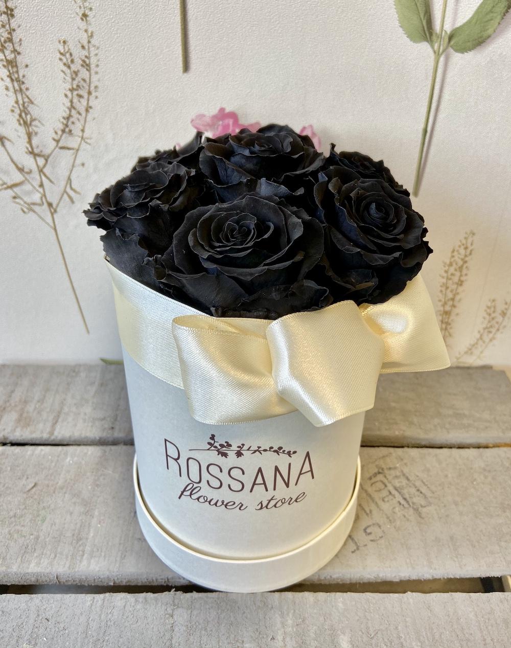 flower box rose stabilizzate nere florashopping Rossana flower store NovellinoIMG_0305