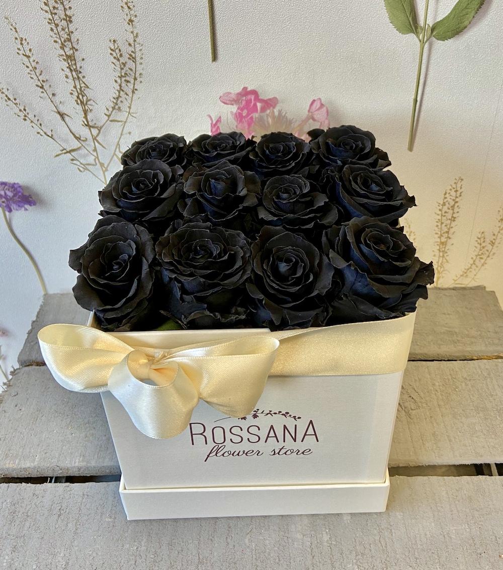flower box rose stabilizzate nere florashopping Rossana flower store NovellinoIMG_0328