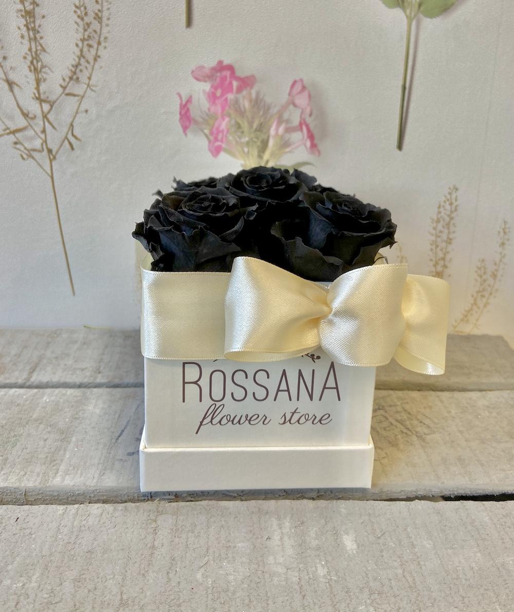 flower box rose stabilizzate nere florashopping Rossana flower store NovellinoIMG_0338