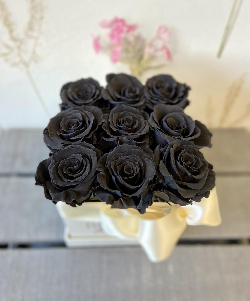 flower box rose stabilizzate nere florashopping Rossana flower store NovellinoIMG_0350