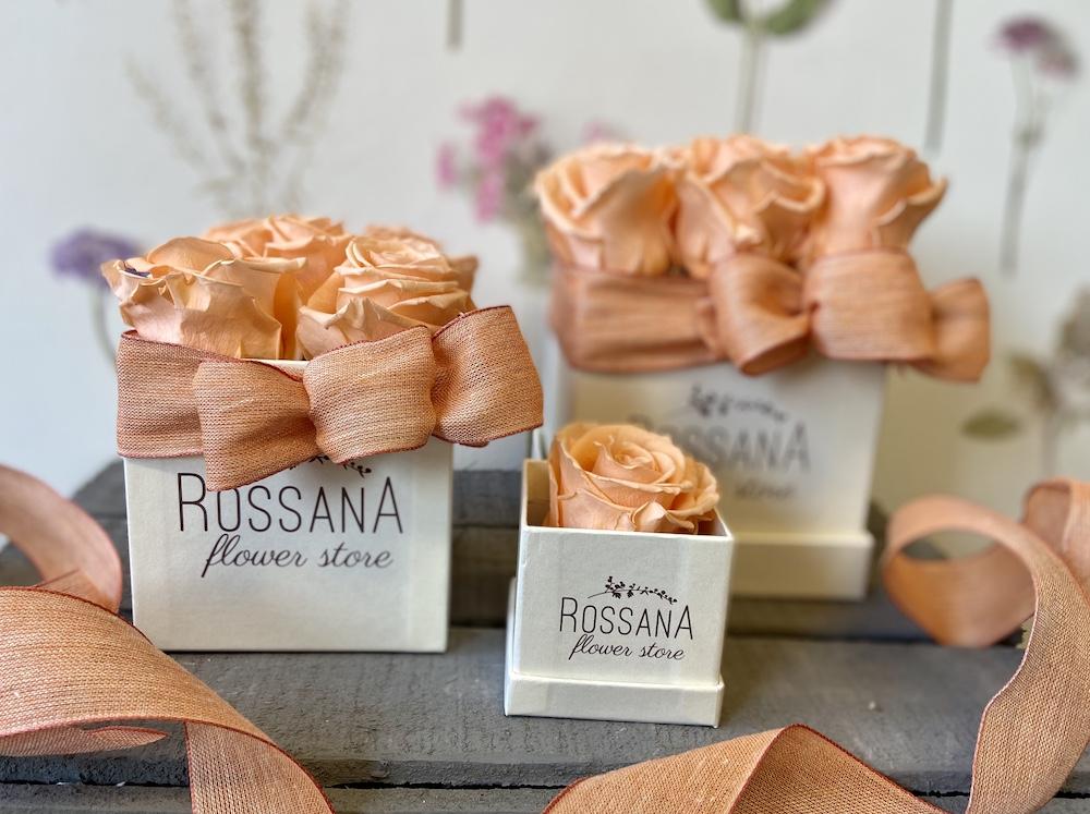 flower box rose stabilizzate pesca florashopping Rossana flower store NovellinoIMG_0257