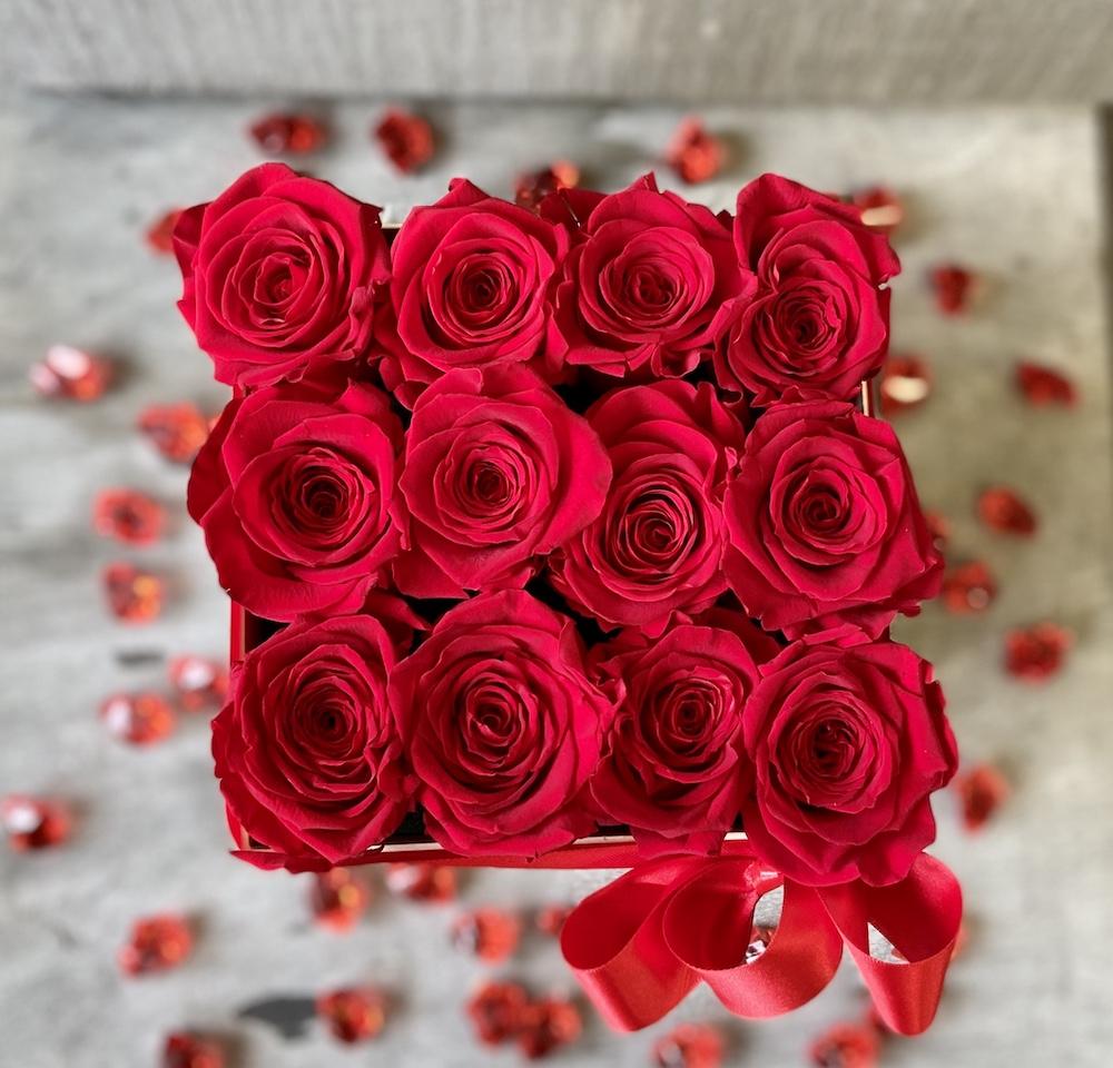 flower box rose stabilizzate rosso florashopping Rossana flower store NovellinoIMG_0581
