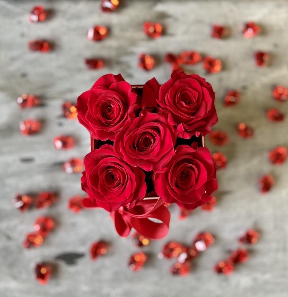 flower box rose stabilizzate rosso florashopping Rossana flower store NovellinoIMG_0604