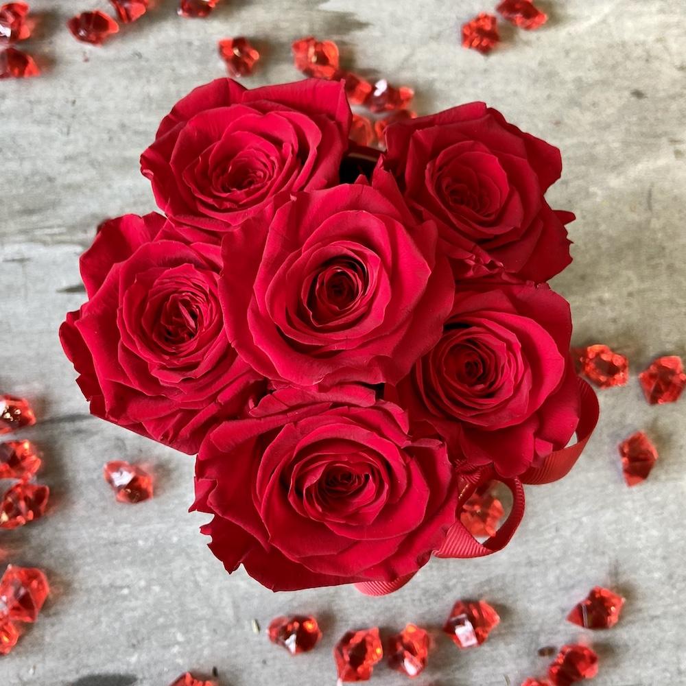 flower box rose stabilizzate rosso florashopping Rossana flower store NovellinoIMG_0623