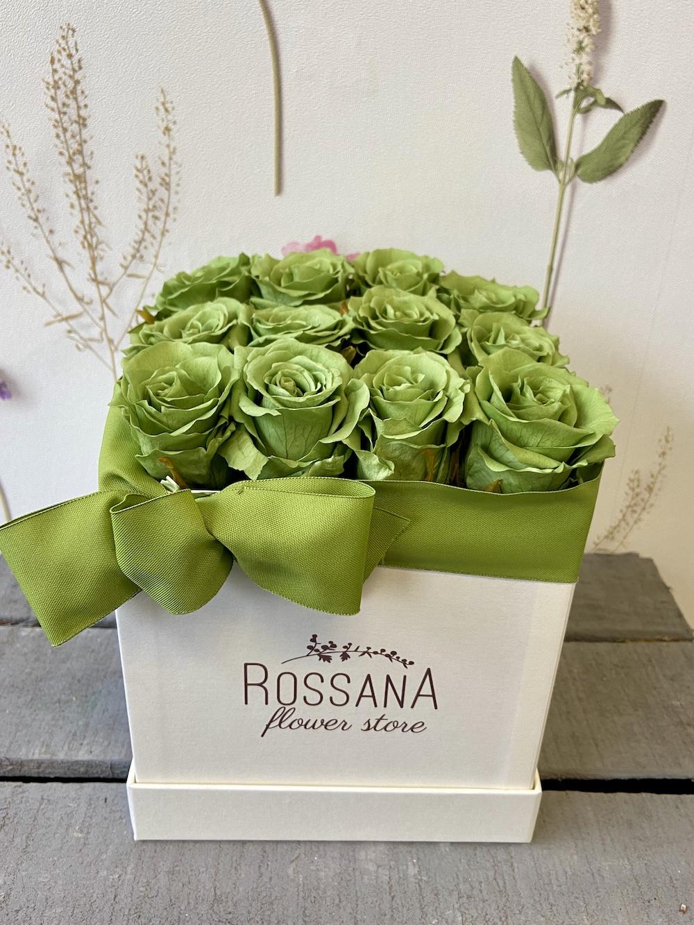 flower box rose stabilizzate verde florashopping Rossana flower store NovellinoIMG_0395