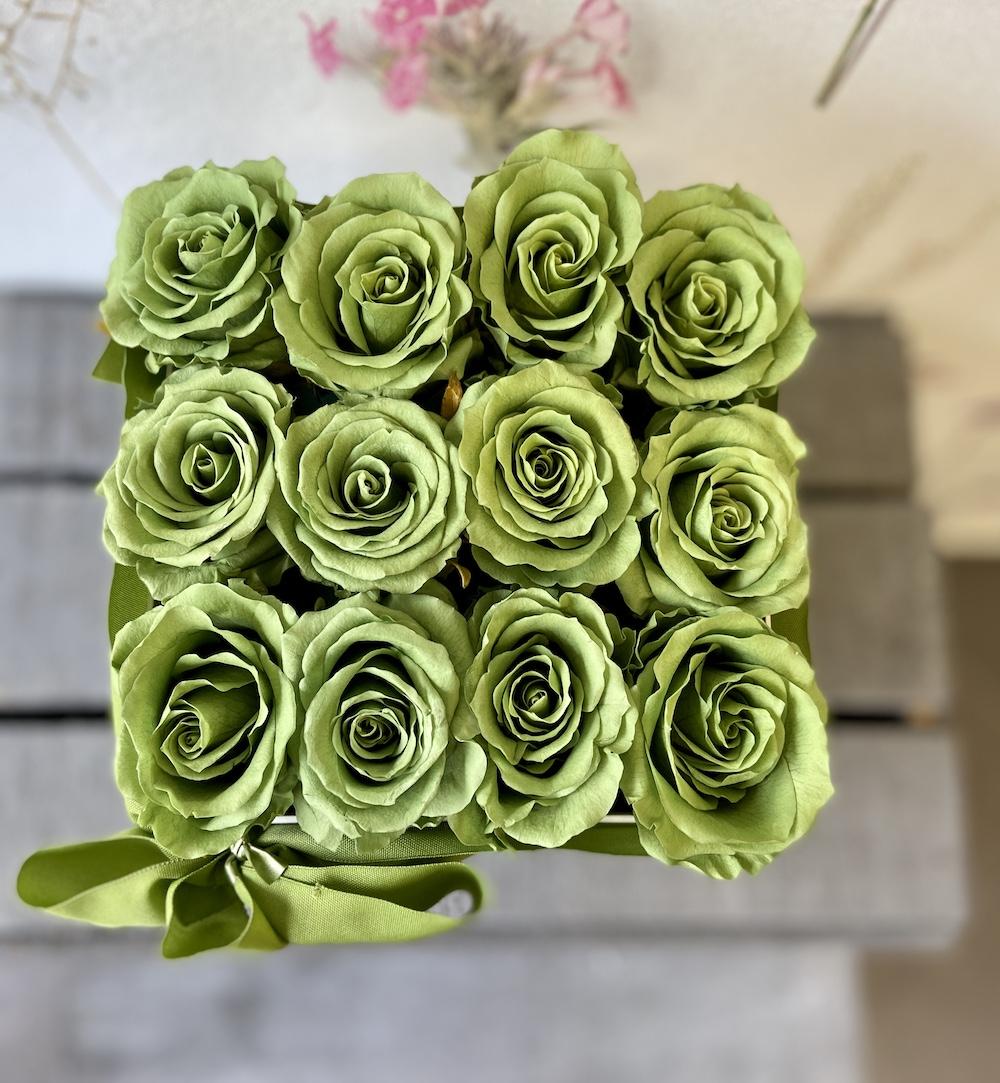 flower box rose stabilizzate verde florashopping Rossana flower store NovellinoIMG_0400