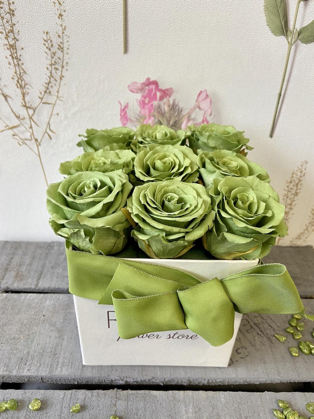 flower box rose stabilizzate verde florashopping Rossana flower store NovellinoIMG_0418