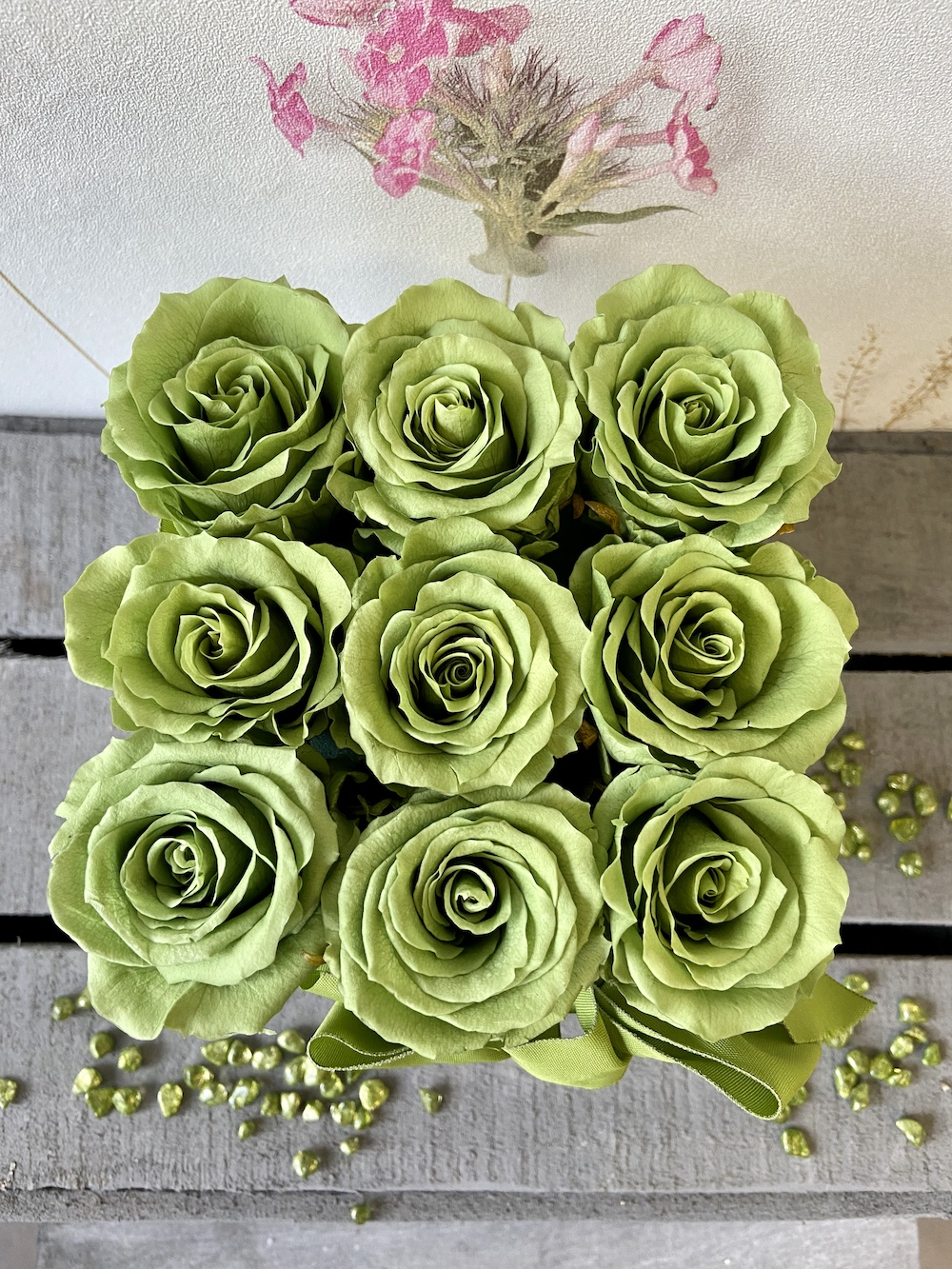 flower box rose stabilizzate verde florashopping Rossana flower store NovellinoIMG_0419