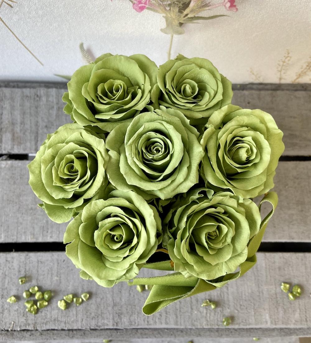 flower box rose stabilizzate verde florashopping Rossana flower store NovellinoIMG_0446